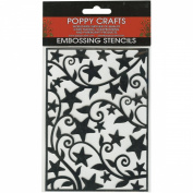 Poppy Crafts Stainless Steel Stencils 11cm x 16cm -Star & Swirls