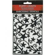 Poppy Crafts Stainless Steel Stencils 11cm x 16cm -Star & Swirls