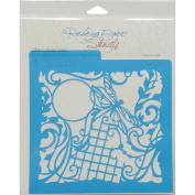 Rebecca Baer Stencil 20cm x 20cm -Dragonfly Fantasy