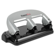 40-Sheet Capacity ProPunch Three-Hole Punch, Rubber Base, Black/Silver, Sold as 1 Each