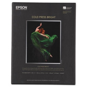 Cold Press Bright Fine Art Paper, 8-1/2 x 11, Bright White, 25 Sheets, Sold as 1 Each