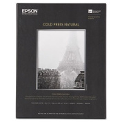 Cold Press Natural Fine Art Paper, 8-1/2 x 11, 25 Sheets, Sold as 1 Each