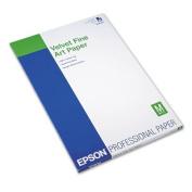 Velvet Fine Art Paper, 13 x 19, White, 20 Sheets/Pack, Sold as 20 Sheet