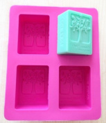 4-tree Oblong Cake Mould Soap Mould Silicone Mould for Cookie Fimo Resin Craft