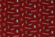 NCAA Florida State Seminoles Team Licenced All Over Cotton Fabric