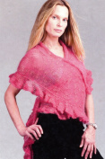 Ruffled Gossamer Shawl Knitting Pattern - Karabella Yarns KK420