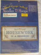 Housework Sampler Stamped Cross Stitch Kit