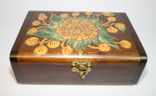 Handcrafted Thai Teak Wooden Jewellery Gift BOX with Ancient Blond Botan & Keepsake Collector Box.