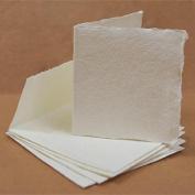 KHADI PAPER SQUARE PAPER CARDS & ENVELOPE (5 PCS EA) PACK KP5W 15cm X 15cm