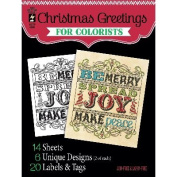 Hot Off The Press Colorist Colouring Book 13cm x 15cm -Christmas Greetings