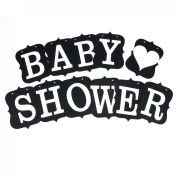BABY SHOWER Letter Card Banner Venue Decoration Photo Prop Black
