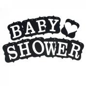 BABY SHOWER Letter Card Banner Venue Decoration Photo Prop Black