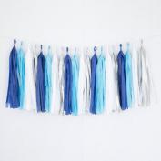 Tissue Paper Tassel Party Garland (20 Tassels Per Package) - 36cm Long Tassels