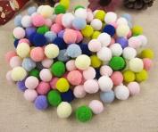 144pcs 1.5cm Pompoms Mixed Colours