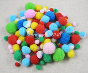 144pcs Approx 8-22mm Mixed Colours Pompom