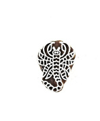 Handmade Vintage Paisley Wooden Stamp India Weavers Textile Block-printing Stamp : Scorpion Design