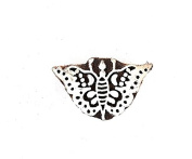 Handmade Vintage Paisley Wooden Stamp India Weavers Textile Block-printing Stamp : Butterfly Design