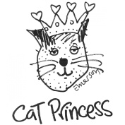 Gourmet Rubber Stamps Cling Stamps 7cm x 12cm -Cat Princess
