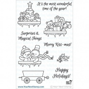 Your Next Stamp Clear Stamps 10cm x 15cm -Santa Express Train Carts