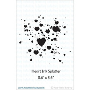 Your Next Stamp Clear Stamps 10cm x 10cm -Heart Ink Splatter