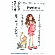 Your Next Stamp Clear Stamps 10cm x 10cm -Mommy To Be