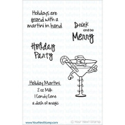 Your Next Stamp Clear Stamps 10cm x 10cm -Holiday Martini
