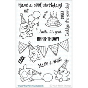Your Next Stamp Clear Stamps 10cm x 15cm -Waddles-Happy Brrr-Thday