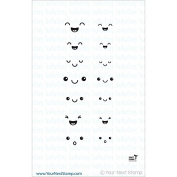 Your Next Stamp Clear Stamps 5.1cm x 10cm -Fun Faces
