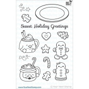 Your Next Stamp Clear Stamps 10cm x 15cm -Sweet Holiday Greetings