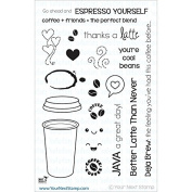 Your Next Stamp Clear Stamps 10cm x 15cm -Thanks A Latte