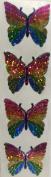 Rainbow Butterfly Glitter Stickers - 2 Sheets