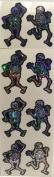 Skeleton Glitter Halloween Stickers - 2 Sheets