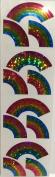 Glitter Rainbow Stickers - 2 Sheets