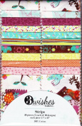 Tweet Town Floral 6.4cm Strips by 3 Wishes Fabric - 20 Strips - 100% Cotton Quilt Fabric