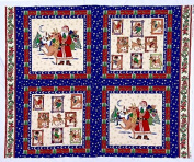 "Santa, Rudolph & Reindeer ""Merry Christmas"" Fabric Pillow Panel (Great for Quilting, Sewing, Craft Projects, Throw Pillows & More) 90cm X 110cm"