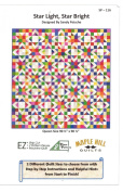 Star Light Star Bright Quilt Pattern by Maple Hill Quilts, Great for Beginners, 170cm by 230cm and 230cm Square Finished Sizes, Scrappy, Easy
