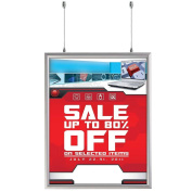 Slide in Frame 60cm X 70cm Poster Size, 2.5cm Aluminium Profile, Black and Silver Colour Mitred Corner, Double Sided
