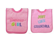 Baby Essentials 2 Bibs I Love Glamour Girl