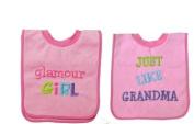 Baby Essentials 2 Bibs I Love Glamour Girl