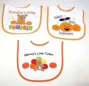 Baby Essentials 3 Happy Thanksgiving Feeder Bibs