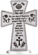 Baptism Gifts Standing Pewter Baptism Cross 7.6cm