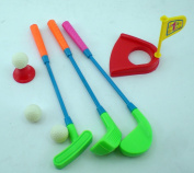 Mini Plastic Golf Clubs, Ball And Hole Cup Toy