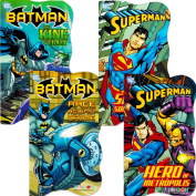 DC Comics Batman vs Superman Board Books for Toddlers - Set of Four Books