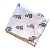 Elephants - 80cm X 80cm - Lil' Whippersnapper Brand Ultra-Plush Baby Blanket - Perfect for Swaddling, the Stroller, & Around the House