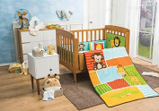 Giraffe & Monkey in the Jungle Baby Crib Bedding Nursery Set 6pcs Limited Edition