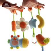 Kangkang@ Baby Toys Toy Cart Newborn Babies Toy Music on the Bed Bed Bed Hanging in a Soft Cloth Plush Head of a Bed