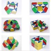 prefect-cq Rubic Cube Snake Shape Toy Game 3D Rubik