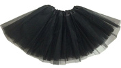 TheWin Girls Ballet Chiffon Leotard Fairy Skirts,Black