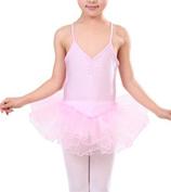 TheWin Girls Ballet Chiffon Leotard Fairy Skirts,Pink
