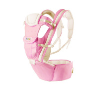 Fineplus New Cotton Infant Front Back Breathable Soft Stool Baby Carrier Pink